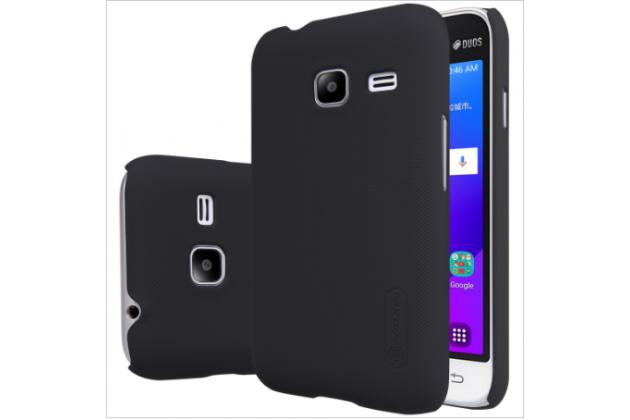 Фирменная задняя панель-крышка-накладка из тончайшего и прочного пластика для Samsung Galaxy J1 mini SM-J105F/H / J1 Mini 2016 4.0 черная