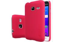 Фирменная задняя панель-крышка-накладка из тончайшего и прочного пластика для Samsung Galaxy J1 mini SM-J105F/H / J1 Mini 2016 4.0 красная