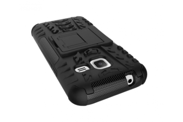 Противоударный усиленный ударопрочный фирменный чехол-бампер-пенал для Samsung Galaxy J1 mini SM-J105F/H / J1 Mini 2016 4.0 белый