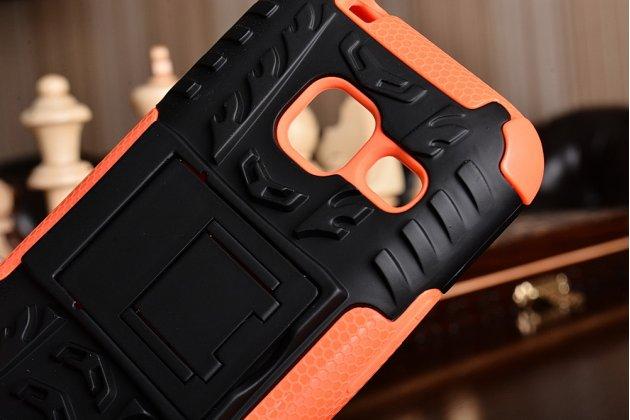 Противоударный усиленный ударопрочный фирменный чехол-бампер-пенал для Samsung Galaxy J1 mini SM-J105F/H / J1 Mini 2016 4.0 оранжевый
