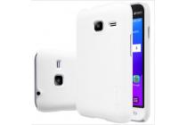 Фирменная задняя панель-крышка-накладка из тончайшего и прочного пластика для Samsung Galaxy J1 mini SM-J105F/H / J1 Mini 2016 4.0 белая