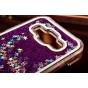 Фирменная роскошная элитная пластиковая задняя панель-накладка украшенная стразами кристалликами со втроенным ..