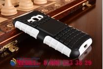 Противоударный усиленный ударопрочный фирменный чехол-бампер-пенал для Samsung Galaxy J1 2016 SM-J120F/H DuoS белый