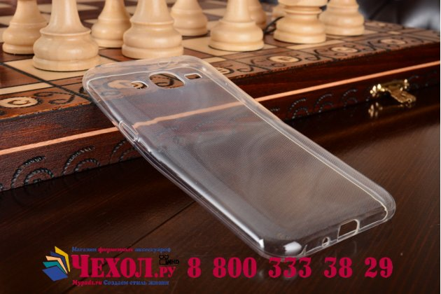 Фирменная задняя полимерная панель-крышка-накладка из ультра-тонкого силикона для Samsung Galaxy J2 SM-J200H/DS /J200F/ J200G 4.7 прозрачная