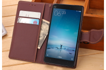"""Фирменный чехол-книжка для Samsung Galaxy J3 (2016) SM-J320F/DS/J320H/DS 5.0""""с визитницей мультиподставкой и декорированной застежкой коричневый кожаный"""