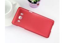 """Фирменная задняя панель-крышка-накладка из тончайшего и прочного пластика для Samsung Galaxy J3 (2016) SM-J320F/DS/J320H/DS 5.0"""" красная"""