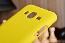 """Фирменная задняя панель-крышка-накладка из тончайшего и прочного пластика для Samsung Galaxy J3 (2016) SM-J320F/DS/J320H/DS 5.0"""" желтая"""