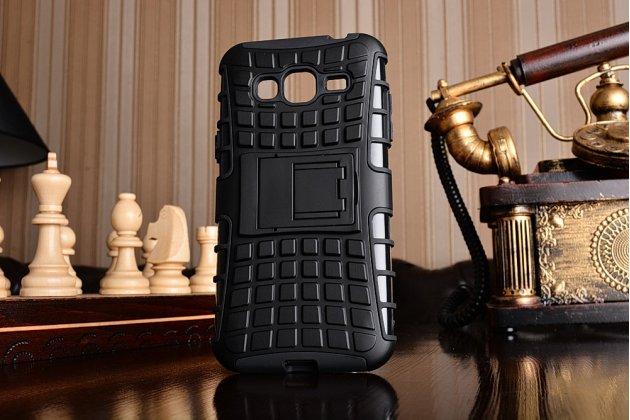 """Противоударный усиленный ударопрочный фирменный чехол-бампер-пенал для Samsung Galaxy J3 (2016) SM-J320F/DS/J320H/DS 5.0"""" черный"""