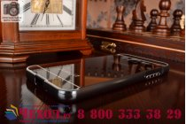 """Фирменная металлическая задняя панель-крышка-накладка из тончайшего облегченного авиационного алюминия для Samsung Galaxy J3 J300/ J3109 (5.0"""")  черная"""