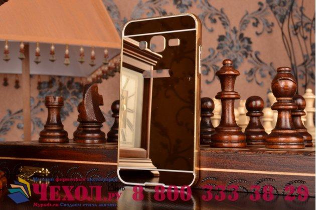 """Фирменная металлическая задняя панель-крышка-накладка из тончайшего облегченного авиационного алюминия для Samsung Galaxy J3 J300/ J3109 (5.0"""")  золотая"""