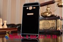 """Фирменная металлическая задняя панель-крышка-накладка из тончайшего облегченного авиационного алюминия для Samsung Galaxy J3 (2016) SM-J320F/DS/J320H/DS 5.0"""" черная"""