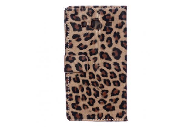 """Чехол-защитный кожух для Samsung Galaxy J3 J300/ J3109 (5.0"""") леопардовый коричневый"""