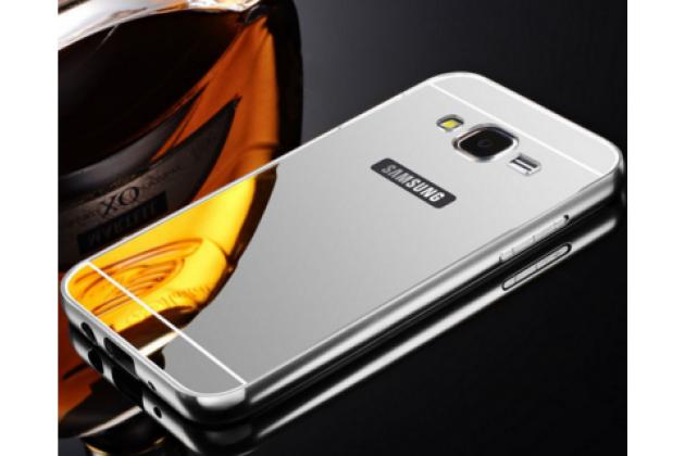"""Фирменная металлическая задняя панель-крышка-накладка из тончайшего облегченного авиационного алюминия для Samsung Galaxy J3 J300/ J3109 (5.0"""")  серебрянная"""