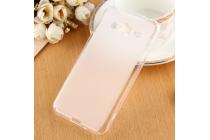 """Фирменная ультра-тонкая полимерная из мягкого качественного силикона задняя панель-чехол-накладка для  Samsung Galaxy J3 J300/ J3109 (5.0"""") белая"""
