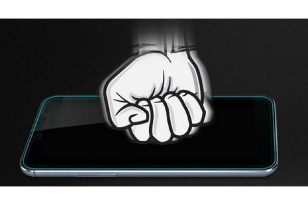 """Фирменное защитное закалённое противоударное стекло премиум-класса из качественного японского материала с олеофобным покрытием для Samsung Galaxy J3 J300/ J3109 (5.0"""")"""