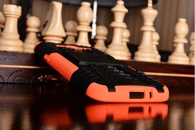 """Противоударный усиленный ударопрочный фирменный чехол-бампер-пенал для Samsung Galaxy J3 J300/ J3109 (5.0"""") оранжевый"""