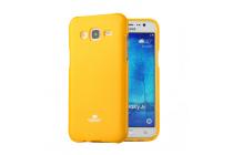 Фирменная ультра-тонкая полимерная из мягкого качественного силикона задняя панель-чехол-накладка для Samsung Galaxy J5 2016 SM-J510H/DS/ J510F/DS оранжевая