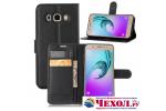 Фирменный чехол-книжка из качественной импортной кожи с мульти-подставкой застёжкой и визитницей для Samsung Galaxy J5 2016 SM-J510H/DS/ J510F/DS черный
