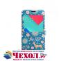 Фирменный чехол-книжка с безумно красивым расписным рисунком Оленя в цветах на Samsung Galaxy J5 2016 SM-J510H..