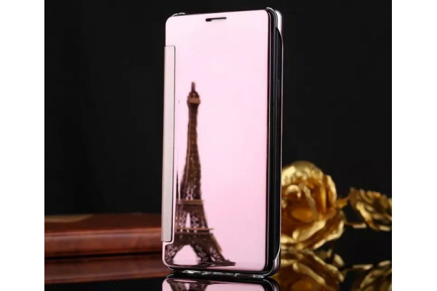 "Чехол-книжка с дизайном ""Clear View Cover""  для Samsung Galaxy J5 2016 SM-J510H/DS/ J510F/DS розовый"