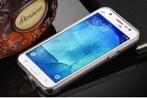 Фирменная металлическая задняя панель-крышка-накладка из тончайшего облегченного авиационного алюминия для Samsung Galaxy J5 2016 SM-J510H/DS/ J510F/DS черная