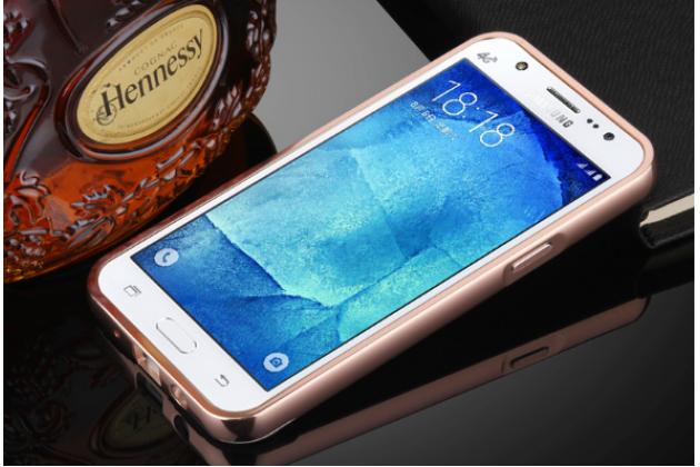 Фирменная металлическая задняя панель-крышка-накладка из тончайшего облегченного авиационного алюминия для Samsung Galaxy J5 2016 SM-J510H/DS/ J510F/DS розовая
