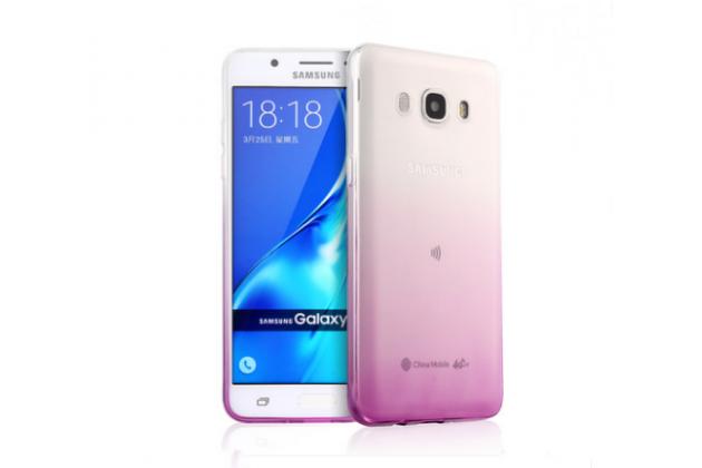 Фирменная ультра-тонкая полимерная задняя панель-чехол-накладка из силикона для Samsung Galaxy J5 2016 SM-J510H/DS/ J510F/DS прозрачная  с эффектом грозы
