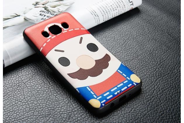 """Фирменная уникальная задняя панель-крышка-накладка из тончайшего силикона для Samsung Galaxy J5 2016 SM-J510H/DS/ J510F/DS с объёмным 3D рисунком """"тематика Марио"""""""