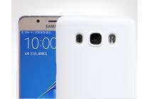 Фирменная задняя панель-крышка-накладка из тончайшего и прочного пластика для Samsung Galaxy J5 2016 SM-J510H/DS/ J510F/DS белая