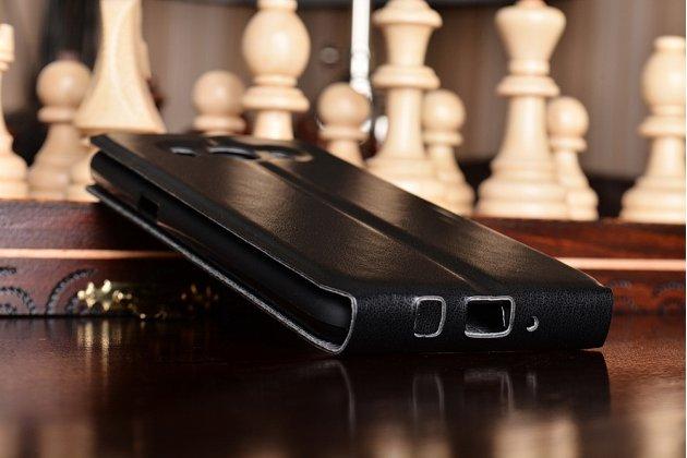 Фирменный вертикальный откидной ультра-тонкий чехол-флип для Samsung Galaxy J5 2016 SM-J510H/DS/ J510F/DS черный