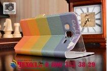 """Фирменный уникальный необычный чехол-книжка для Samsung Galaxy J5 SM-J500F/DS/Dual Sim/Duos """"тематика все цвета радуги"""""""