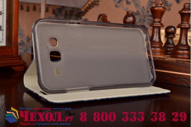Фирменный роскошный эксклюзивный чехол с объёмным 3D изображением рельефа кожи крокодила синий для Samsung Galaxy J5 SM-J500F/DS/Dual Sim/Duos . Только в нашем магазине. Количество ограничено