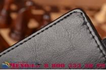 """Фирменный оригинальный вертикальный откидной чехол-флип для Samsung Galaxy J5 SM-J500F/DS/Dual Sim/Duos черный из натуральной кожи """"Prestige"""" Италия"""