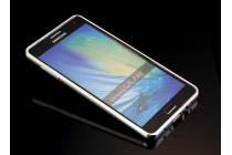 Фирменная металлическая задняя панель-крышка-накладка из тончайшего облегченного авиационного алюминия для Samsung Galaxy J5 SM-J500F/DS/Dual Sim/Duos серебряная