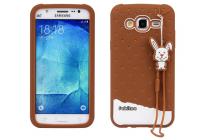 """Фирменная необычная уникальная полимерная мягкая задняя панель-чехол-накладка для Samsung Galaxy J5 SM-J500F/DS/Dual Sim/Duos """"тематика Андроид в тёмном Шоколаде"""""""