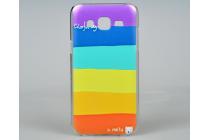 """Фирменная необычная из легчайшего и тончайшего пластика задняя панель-чехол-накладка для Samsung Galaxy J5 SM-J500F/DS/Dual Sim/Duos """"тематика Все цвета Радуги"""""""