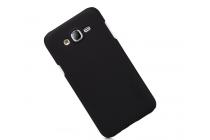 Фирменная задняя панель-крышка-накладка из тончайшего и прочного пластика для Samsung Galaxy J5 SM-J500F/DS/Dual Sim/Duos черная