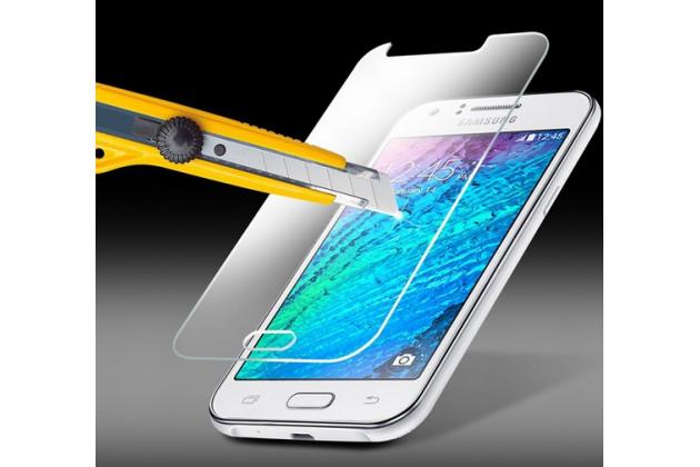 Фирменное защитное закалённое противоударное стекло премиум-класса из качественного японского материала с олеофобным покрытием для Samsung Galaxy J5 SM-J500F/DS/Dual Sim/Duos