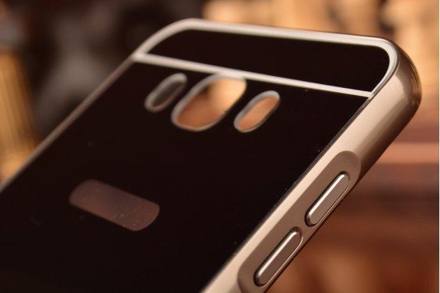 """Фирменная металлическая задняя панель-крышка-накладка из тончайшего облегченного авиационного алюминия для Samsung Galaxy J7 2016 SM-J710x/ J710F 5.5"""" черная"""