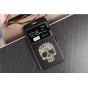 Фирменный чехол-книжка с безумно красивым расписным рисунком черепа на Samsung Galaxy J7 2016 SM-J710x/ J710F ..