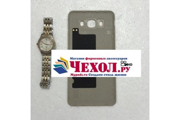 """Родная оригинальная задняя крышка-панель которая шла в комплекте для Samsung Galaxy J7 2016 SM-J710x/ J710F 5.5""""  золотая"""