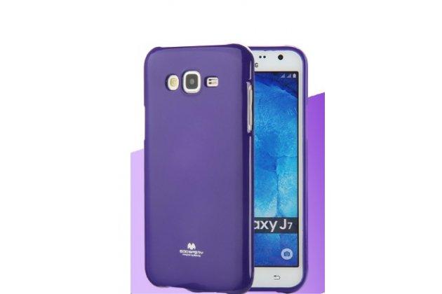 """Фирменная ультра-тонкая полимерная из мягкого качественного силикона задняя панель-чехол-накладка для Samsung Galaxy J7 2016 SM-J710x/ J710F 5.5"""" фиолетовая"""