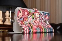 """Фирменный чехол-книжка с рисунком на тему """"Карамельный Взрыв"""" на Samsung Galaxy J7 Prime SM-G610F/DS 5.5"""" с окошком для звонков"""