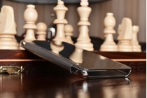"""Чехол-книжка с дизайном Clear View Cover полупрозрачный с зеркальной поверхностью для Samsung Galaxy J7 Prime SM-G610F/DS 5.5"""" серебристый"""