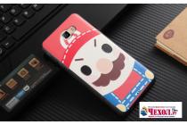 """Фирменная уникальная задняя панель-крышка-накладка из тончайшего силикона для Samsung Galaxy J7 Prime SM-G610F/DS 5.5""""с объёмным 3D рисунком """"тематика Марио"""""""