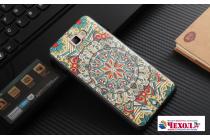 """Фирменная уникальная задняя панель-крышка-накладка из тончайшего силикона для Samsung Galaxy J7 Prime SM-G610F/DS 5.5""""с объёмным 3D рисунком """"тематика  Эклектические узоры"""""""