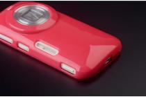 Фирменная ультра-тонкая полимерная из мягкого качественного силикона задняя панель-чехол-накладка для Samsung Galaxy K Zoom SM-C115 / C1116 розовый