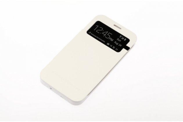 Чехол-книжка со встроенной усиленной мощной батарей-аккумулятором большой повышенной расширенной ёмкости 3500mAh для Samsung Galaxy Mega 5.8 GT-i9150/i9152 белый + гарантия