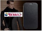 Чехол-обложка из качественной импортной кожи для Samsung Galaxy Mega 5.8 GT-i9150 черный..