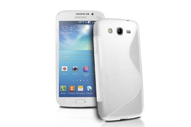 Фирменная ультра-тонкая полимерная из мягкого качественного силикона задняя панель-чехол-накладка для Samsung Galaxy Mega 5.8 GT-i9150/i9152 белой волной